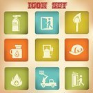 Vector,Fire Extinguisher,Push Button,Fire - Natural Phenomenon,Hatchet,Maltese Cross,Fire Alarm,Equipment,Flame,Panic Button,Collection,Fire Hydrant,Ilustration,Fire Station,Ladder,Fire Axe,Burning,Icon Set,Smoke Jumper,Symbol,Sign,Firefighter's Helmet