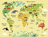 Map,Cartography,Child,Globe - Man Made Object,Animal,Sea,Palm Tree,Discovery,Earth,Safari Animals,Planet - Space,Africa,Island,Europe,Australia,Colors,South,Shape,Design,Eurasia,continent,Computer Graphic,Equator,Camel,Madagascar,Asia,Nature,Parrot,Bear,Wildlife,North,Wave,USA,Fish,Pattern,Lion - Feline,Lake,Concepts,Forest,Tropical Climate,Ilustration
