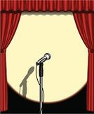 Microphone,Catwalk - Stage,Curtain,Spotlight,Lighting Equipment,Spot Lit,Performance,Vector,Light - Natural Phenomenon,Ilustration,Shadow,Entertainment,on stage,Copy Space,Wired,Focus on Shadow