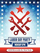 Labor Day,Music,White Background,Barbecue Grill,Banner,Symbol,Placard,Social Gathering,Celebration,Political Party,Meeting,The Americas,Party - Social Event,Cards,Computer Part,Equipment,vector icon,Wrench,Modern,Ilustration,Sparse,Interface Icons,USA,ISTEXT2012,Vector,Gardening Equipment,Work Tool,Hardware Store,Barbecue,Food,Computer Icon,Greeting Card,Simplicity,Invitation,Event,Blue