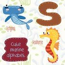 Sea Horse,Backgrounds,Ilustration,Education,Learning,Single Word,Nature,Book,Wildlife,Hammerhead Shark,Textile,Clip Art,Symbol,Spelling,Computer Graphic,Summer,Alphabet,Sea,Beach,Ornate,Cute,Animal,Reading,Fun,Child,Sign,Vector