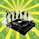 Club Dj,Party - Social Event,Music,Radio Dj,Record,Turntable,Dance And Electronic,Vector,Hip Hop,Dancing,Silhouette,People,Rap,Nightclub,Women,Clubbing,Disco Dancing,Cool,Night,Retro Revival,Men,Design Element,Jumping,Sound,Happiness,1940-1980 Retro-Styled Imagery,Celebration,Friendship,Fun,Action,Star Shape,Ilustration,Joy,Motion,Female,Digitally Generated Image,Youth Culture,Design,Male,Illustration Technique,Adult,creative element,Smiling,Creativity,Curve,Horizontal,graphic element