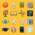 Science,Graduation,Ilustration,Book,Learning,University,Collection,Geometric Shape,Computer Graphic,Education,Sign,Student,Creativity,Vector,Backgrounds,Abstract,Symbol,Microscope,Teaching,Pencil,school bell,Certificate