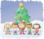 Christmas,Child,Christmas Tree,Offspring,Tree,Winter,Snow,Little Boys,Drawing - Art Product,Star - Space,Christmas Ornament,Holiday,Cartoon,Multi-Ethnic Group,Little Girls,Human Hand,Children Only,Friendship,Wishing,Symbols Of Peace,Ilustration,Vector,Outdoors,Community,Elementary Student,Holding,Latin American and Hispanic Ethnicity,Elementary Age,Cute,Scribble,Watercolor Painting,Variation,School Children,Child's Drawing,Hat,Santa Hat,Asian Ethnicity,Black Color,Peace On Earth,Holding Hands,Scarf,Five People,Unity,Serene People,Caucasian Ethnicity,Global Village,Tranquil Scene,Sketch,Group Of People,Togetherness,Southern European Descent,Vector Cartoons,Christmas,Illustrations And Vector Art,Cold - Temperature,Holidays And Celebrations