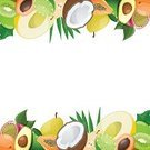 Fruit,Vector,Mango,Berry Fruit,Slice,Lemon,Agriculture,Sweet Food,Symbol,Vegetarian Food,Tropical Music,Coconut,Apricot,Group of Objects,Collection,Freshness,Avocado,Ilustration,Exoticism,Set,Climate,Summer,Lime,Melon,Food,Passion,Lifestyles,Breakfast,Papaya,Pear,Image,Persimmon,Passion Fruit,Eating,Lunch,Coco,Healthy Eating