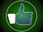 Global Communications,Concepts,Digitally Generated Image,Communication,Coding,Green Color,Binary Code,Computer Network,Internet,Ideas,Data,Social Networking,Friendship,Connection,Social Issues,Blue,Sign,Thumbs Up,Computer Icon