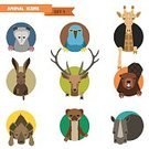 Animal,Symbol,Vector,Opossum,Deer,Rhinoceros,Computer Graphic,Ferret,Sparse,Zoo,Human Face,Ilustration,Parrot,Ornate,template,Hare,Marten,Sign,Collection,Hyena,Giraffe,Wildlife,Nature,Backgrounds