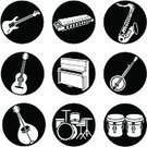 Musical Instrument,Banjo,Harmonica,Jazz,Drum,Symbol,Drum Kit,Saxophone,Guitar,Music,Religious Icon,Piano,Vector,Icon Set,Mandolin,Blues,Bongo,Ilustration,Electric Guitar,Adulation,Electricity,Isolated-Background Objects,Music,Isolated Objects,Arts And Entertainment,Illustrations And Vector Art