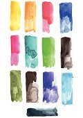 Rectangle,Watercolor Paints,Watercolor Painting,Olive Green,Kelly Green,Navy Blue,Ilustration,Brush Stroke,Bunt,Red,Two-dimensional Shape,Blue,Orange Color,Geometric Shape,Purple,Magenta,Yellow,Turquoise,Green Color