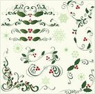 Christmas,Holly,Vector,Christmas Decoration,Winter,Snow,Scroll Shape,Leaf,Snowflake,Floral Pattern,Flower,Design Element,Christmas Ornament,Berry Fruit,Swirl,Berry,Clip Art,Ornate,Ilustration,Red,No People,Copy Space,Variation,Color Image