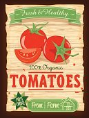 Tomato,Old-fashioned,Retro Revival,1950s Style,Vegetable,Healthy Eating,Design,Farm,Textured,1940-1980 Retro-Styled Imagery,Food And Drink,Grunge,Label,Sign,Green Color,Barn,Agriculture,Fruit,Poster,Badge,Banner,Nature,Vector,Ilustration,Organic,Food,Freshness