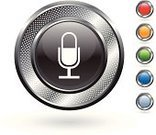 Microphone,Symbol,Computer Icon,Radio,Metallic,Vector,Speech,The Media,Metal,Circle,Ilustration,Communication,White,Grid,Blank,White Background,Silver - Metal,Hole,Silver Colored,Sound Recording Equipment,Curve,Red,Green Color,template,Electrical Equipment,Set,Blue,Empty,Technology,Orange Color
