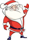 Santa Claus,Christmas,Cartoon,Vector,Human Face,Grandfather,Human Eye,Holiday,Beard,Mustache,Men,Ilustration