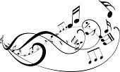Wave Pattern,Musical Note,Musical Staff,Backgrounds,Vector,Sign,Popular Music Concert,Classical Concert,Design,Shape,Sheet,Classical Music,Treble Clef,Computer,Symbol,Pattern,Music,Black Color,Striped,Curve,Swirl,Ornate,Piano,Chord,Design Element,Simplicity,Ilustration,Sound,Computer Graphic,Modern,Elegance,Art,Abstract,Sheet Music,Jazz,Rock and Roll,White