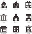Government,Symbol,School Building,Icon Set,Built Structure,University,Construction Industry,Hospital,Museum,House,Restaurant,Church,Business,Police Force,Vector,Bank,Stage Theater,Blog,Collection,Isolated,Internet,Social Issues,The Media,Connection,City Life,Computer Network,Modern,Industry,City,Design,Web Page,Office Building,Mobility,Design Element,Marketing,Set,Technology,user,Architecture