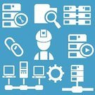 Connection,Network Server,Internet,Vector,Sign,Work Tool,Wrench,Computer Part,Cursor,Magnifying Glass,Hourglass,Reflection,Symbol,Icon Set,Data,Add,Searching,Computer Monitor,Log On,USB Cable,www,Screwdriver,Log Out,Ilustration,Entering