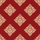 Vector,Floral Pattern,Backgrounds,Retro Revival,Computer Graphic,Decor,Backdrop,Pattern,Seamless,Design,Embellishment,Ilustration,Wallpaper,Wallpaper Pattern,Red,Beige,Design Element,Swirl,Old-fashioned,Abstract,Flourish,Textile,Tracery,Part Of,Creativity,Royalty,Blossom,Decoration,Tile,Scroll Shape,Textured,foliate,Flower,Ornate,Elegance