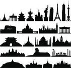 Urban Skyline,Famous Place,Egypt,India,Silhouette,Houses Of Parliament - London,Monument,Big Ben,Vector,Russia,Eiffel Tower,Black And White,Mexico,Vatican,USA,Leaning Tower of Pisa,Greece,Namdaemun Gate,Isolated,Italy,Indonesia,Taj Mahal,The Sphinx,Architecture,France,Ilustration,Angkor Wat,Grand Palace,White Background,Outline,Statue of Liberty,Building Exterior,Moscow - Russia,Cityscape,England,Japan,Isolated On White,Thailand,Built Structure