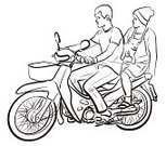 Ilustration,Sketch,Moped,People Traveling,Painted Image,Art,Passenger,Vector,Line Art,Transportation,Pets,People,Motorcycle,Lifestyles,Men,Women,Dog,Puppy,Riding,Hand-drawn