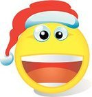Christmas,Emoticon,Smiley Face,Smiling,Vitality,Laughing,Humor,Red,Party - Social Event,Cheerful,Hat,Cap,Holiday,Christmas,Vector Icons,Holidays And Celebrations,Gift,Celebration,Computer Icon,Illustrations And Vector Art