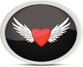 Heart Shape,Computer Icon,Symbol,Angel,Tattoo,Flying,Feather,Design Element,Wing,Interface Icons,Love,Cartoon,White Background,Placard,Artificial Wing,Ornate,Banner,Button,Black Color,Vector,Ilustration,Silhouette,Valentine's Day - Holiday,Clip Art,Sign