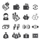 Symbol,Emergence,Money Bag,Piggy Bank,Wallet,Wages,Growth,Currency,Pocket,Briefcase,Occupation,Computer Graphic,Coin,Paying,Vector,Bag,Calculator,Business,Wealth,Finance