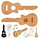 Key,Guitar,Music,Car Key,Wood - Material,Musical Note,Acoustic Guitar,Symbol,Musical Instrument,Icon Set,Silver - Metal,Ideas,Environment,Metallic,Concepts And Ideas,Communication,Musical Key,Lifestyle,Steel,Chrome,Concepts,Man Made Object
