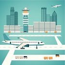 Airport,Airplane,Boarding,Leaving,aboard,Vacations,Built Structure,Land,Airport Runway,Business,Journey,Freight Transportation,Car Transporter,Radio,Shipping,Air Vehicle,Aerospace Industry,Transportation,Loading,Concepts,Vector,Business Travel,Travel,Cargo Container,People Traveling,Tower,Taking Off,Cruise Ship,Ilustration,facility,Tourism,Private Airplane,Container Ship,Domestic Room,Exploration,Landing - Touching Down,Flying,Sky,Air,Urban Scene,City,Car,Luggage,Commercial Airplane