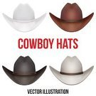 Cowboy Hat,Clothing,Personal Accessory,Backgrounds,Equipment,Black Color,Set,American Culture,Texas,Hat,Cowboy,Vector,Isolated,Occupation,Cultures,Sheriff