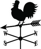 Weather Vane,Barn,Rooster,Arrow,Farm,Silhouette,Weather,Wind,Direction,West - Direction,Bird,Meteorology,East,North,Back Lit,Arrow Symbol,Forecasting,South,Birds,Nature Symbols/Metaphors,Animals And Pets,Nature