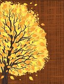 Autumn,Falling,Backgrounds,Tree,Ilustration,Poster,Branch,Textured Effect,Nature,Swirl,Vertical,Textured,Gold Colored,Wind,Yellow,Brown,Striped,Blowing,Design,Vector,Copy Space,Leaf,Orange Color,template