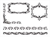 Ornate,Single Line,Black Color,White,Frame,Striped,In A Row,Floral Pattern,Image,Design,Flower,Art,Elegance,Design Element,Vector,Curve,Symbol,Decoration,Shape,Computer Graphic,Beauty,Voluptuous,Style,Copy Space,Ilustration,Silhouette,Christmas Decoration,Illustrations And Vector Art,Vector Florals,Digitally Generated Image,Vector Ornaments