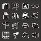 Car,Transportation,Food,Taxi,Summer,Restaurant,Tourism,Hat,Ticket,Camera - Photographic Equipment,Symbol,Vector,Travel,Map,Hotel,Vacations,Suitcase,Airplane,Sign,Passport