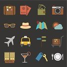 Car,Sign,Airplane,Suitcase,Vacations,Hotel,Map,Travel,Vector,Symbol,Camera - Photographic Equipment,Ticket,Hat,Tourism,Restaurant,Summer,Taxi,Food,Transportation,Passport