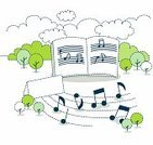 Sheet Music,Music,Flower Bed,Note Pad,Letter,Note,Tree,Dotted Line,Ilustration,Education,Learning,Studying,Cloud - Sky