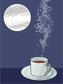 Coffee - Drink,Moon,Coffee Cup,Hot Chocolate,Cup,Tea - Hot Drink,Tea Cup,Night,Plato - Philosopher,Chocolate,Hot Drink,Smoke - Physical Structure,Full Moon,Condensation,Food And Drink,Arts And Entertainment,Household Objects/Equipment,Arts Backgrounds,Drinks,Objects/Equipment