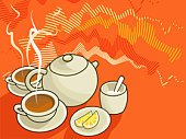 Tea - Hot Drink,Tea Cup,Cup,Teapot,Lemon,Sugar Bowl,Digestive Biscuit,Drinks,Arts Backgrounds,Household Objects/Equipment,Objects/Equipment,Hot Drink,Drink,Plate,Food And Drink,Arts And Entertainment