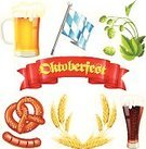 Oktoberfest,Beer - Alcohol,Hop,Barley,Pretzel,Flag,Cereal Plant,Vector,Ribbon,German Culture,Red,Food,Liquid,Salt,unfiltered,Grilled,Snack,Cultures,Pint Glass,Frothy Drink,Symbol,Green Color,Lager,Wheat,Alcohol,Isolated,Sausage,Malt,Full,Bakery,White,Computer Icon,Drink,Bread