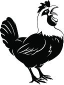 Rooster,Bird,White Meat,Computer Icon,Food,Male Animal,Chicken - Bird,Black Color,Chicken,Beautiful,Dawn,Domestic Animals,Ilustration,Crowing,Cockerel,Crow,Meat,Agriculture,Art,Symbol,Nature,Beak,Vector,Old-fashioned,Design,Poultry,Back Lit,Silhouette,White,Animal,Farm,Isolated,Computer Graphic