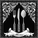 Backgrounds,Retro Revival,Victorian Style,Dinner,Engraved Image,Silverware,Engraving,Elegance,Ilustration,Luxury,Copy Space,Ribbon,Decoration,Curled Up,Spoon,Domestic Kitchen,Gourmet,Design,Commercial Kitchen,Vector,Fork,Table Knife,Equipment,Black And White,Cafe,Scroll Shape,Swirl,Drawing - Art Product,Black Color,Ornate,Food,Insignia,Service,Restaurant,Kitchen,Food And Drink,Lunch,Kitchen Utensil,Menu,White,Decor,Clip Art