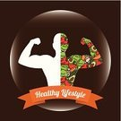 Exercising,Food,Body Building,Men,Human Muscle,Muscular Build,Gym,Ilustration,Unhealthy Eating,Activity,Sports Training,Energy,Instructor,Healthy Lifestyle,The Human Body,Lifestyles,Design Element,Vegetable,Action,Part Of,Gymnastics,Multi Colored,Sport,People,Athlete,Weights,Coach,Vector