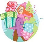 Shopping,Christmas,Women,Scarf,Cartoon,Retail,Knit Hat,Holiday,Customer,Shopping Mall,Winter,Singing,Gift,Wrapping Paper,Happiness,Cheerful,Christmas Tree,Ilustration,Box - Container,Fun,Excitement,Multi Colored,Beautiful,Giving,Buying,Shopping Bag,Buy,People,Holidays And Celebrations,Illustrations And Vector Art,Vector,Bow,Season,Ribbon,Redhead,Vector Cartoons,Musical Note,Smiling,Christmas,Snow,December,Vibrant Color