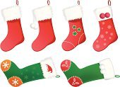 Christmas Stocking,Stockings,Christmas,Sock,Vector,Red,Hanging,Isolated,Holiday,Clothing,Christmas Decoration,Christmas Ornament,Ilustration,Pattern,Gift,Cultures,Green Color,Winter,Snowflake,Celebration,Patch,Cute,Decoration,Happiness,Isolated Objects,Indigenous Culture,Holidays And Celebrations,Joy,Cheerful,December,Illustrations And Vector Art