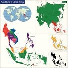 Map,Indonesia,Singapore,Thailand,illustrated,Myanmar,Brunei,Philippines,East Timor,Abstract,Malaysia,countries,Outline,Ilustration,Asia,Cambodia,Vietnam,Colors,Vector,southeastern,Shape,region,regions,Politics,bitmap,Multi Colored,continent,Backgrounds
