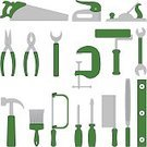 Work Tool,Wood Planer,Hand Saw,Hammer,Home Improvement,Level,Symbol,Rasp,Paint Roller,Wrench,Equipment,Computer Icon,Pliers,Clamp,Icon Set,Paintbrush,Set,Staple Gun,Green Color,Screwdriver,Household Objects/Equipment,Vector Icons,Objects/Equipment,Illustrations And Vector Art,Industrial Objects/Equipment