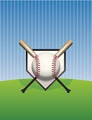 Home Base,Major League Baseball,Ilustration,Vector,Sports Team,Sports League,Baseball Bat,Wood - Material,Playing Field,Design Element,Sport,Pinstripe,Base,Baseballs,Baseball - Sport,Sports Bat,Ball,Backgrounds