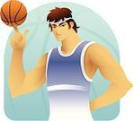Basketball,Basketball - Sport,Cartoon,Body Building,Men,Exercising,Relaxation Exercise,Manga Style,Human Muscle,Human Finger,Characters,Ilustration,Muscular Build,Sport,Vector,Cool,Caucasian Ethnicity,Headband,Computer Graphic,Ball,Cheerful,Digitally Generated Image,Design,Beauty And Health,Strength,White,Sports And Fitness,Happiness,Humor,Illustrations And Vector Art