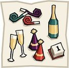 New Year's Eve,Party Horn Blower,New Year's Day,Party Hat,Year,Calendar,Party - Social Event,New Year,Champagne Flute,Bottle,Champagne,Celebration,New Year's,Vector Icons,Holidays And Celebrations,Glass,January,Wine Bottle,Illustrations And Vector Art