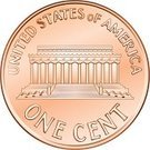 Memorial,Penny,Bronze,Metal,Shiny,Vector,Currency,Bronze,Dollar,Ilustration,USA,Isolated,Coin,US Coin
