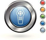 Remote Control,Symbol,Computer Icon,Technology,Green Color,Grid,Silver - Metal,Metal,template,Blue,Hole,Empty,Curve,Metallic,Set,Blank,Silver Colored,Red,Circle,Orange Color